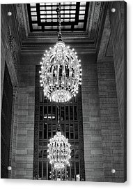 Acrylic Print featuring the photograph Lamps In Grand Central Station by Lora Lee Chapman