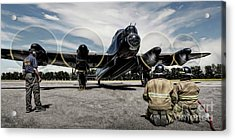 Acrylic Print featuring the photograph Lancaster Engine Test by Brad Allen Fine Art