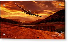 Lancaster Over Ouzelden Acrylic Print by Nigel Hatton