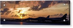 Acrylic Print featuring the photograph Lancer Flightline by Peter Chilelli