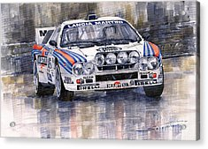 Lancia 037 Martini Rally 1983 Acrylic Print by Yuriy  Shevchuk