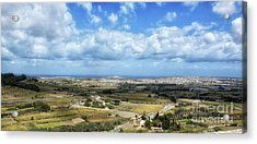 Land And Sky Acrylic Print by Stephan Grixti