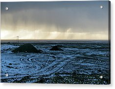 Acrylic Print featuring the photograph land of Lava by Dubi Roman