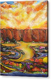Land Of Silence Acrylic Print by Chaline Ouellet