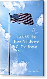 Land Of The Free Acrylic Print by Joann Copeland-Paul