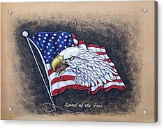 Land Of The Free Acrylic Print by Lilly King