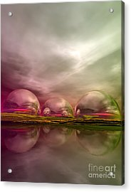 Acrylic Print featuring the digital art Land Of The Lost by Sandra Bauser Digital Art