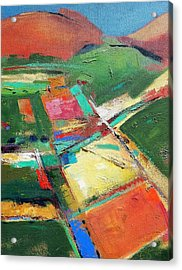 Land Patches Acrylic Print
