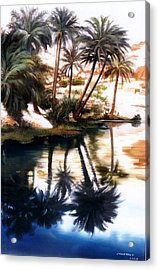Acrylic Print featuring the painting Land Scape by Chonkhet Phanwichien