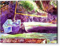 Landed Boats Acrylic Print
