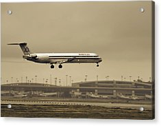 Landing At Dfw Airport Acrylic Print