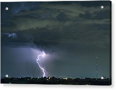 Acrylic Print featuring the photograph Landing In A Storm by James BO Insogna