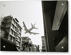Landing In Hong Kong Acrylic Print