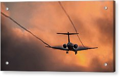 Acrylic Print featuring the photograph Landing In L.a. by April Reppucci