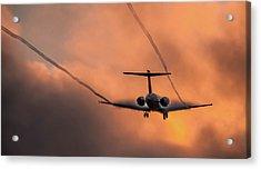 Landing In L.a. Acrylic Print by April Reppucci