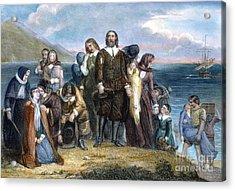 Landing Of Pilgrims, 1620 Acrylic Print by Granger
