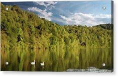 Acrylic Print featuring the photograph Landingville Lake Pennsylvania by David Dehner