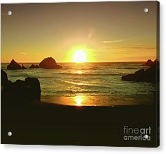 Lands End Sunset-the Golden Hour Acrylic Print