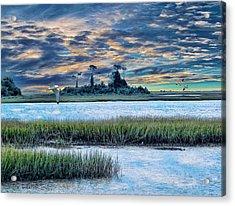 Lands End Acrylic Print by Tom Schmidt
