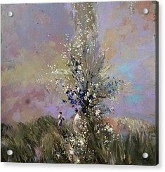 Acrylic Print featuring the painting Landscape . I Was Lucky Today. by Anastasija Kraineva