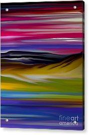 Landscape 7-11-09 Acrylic Print by David Lane
