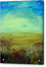 Landscape Abstract Acrylic Print by Julie Lueders