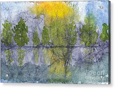 Landscape Reflection Abstraction On Masa Paper Acrylic Print