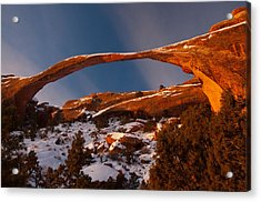 Landscape Arch Sunrise Acrylic Print