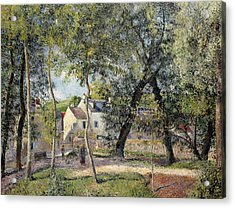 Landscape At Osny Near The Drinking Trough Acrylic Print by Camille Pissarro