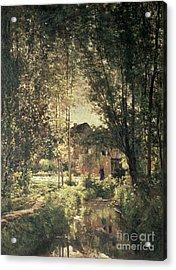 Landscape Acrylic Print by Charles Francois Daubigny