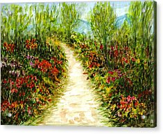 Acrylic Print featuring the painting Landscape by Harsh Malik