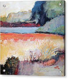 Landscape In Abstraction Acrylic Print by Ron Stephens