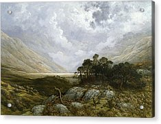 Landscape In Scotland Acrylic Print by Gustave Dore