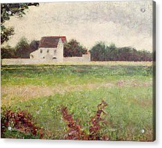Landscape In The Ile De France Acrylic Print by Georges Pierre Seurat