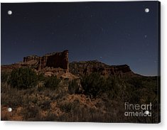 Landscape In The Moonlight Acrylic Print by Melany Sarafis