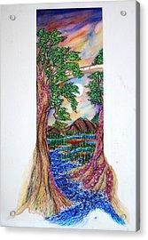 Landscape Acrylic Print by Joseph Lawrence Vasile
