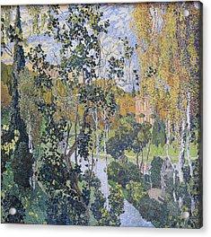Landscape. Pavlovsk Acrylic Print by Aleksandr Golovin