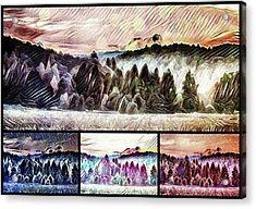 #landscape #sunset #psychedelic Acrylic Print by Michal Dunaj