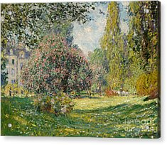 Landscape  The Parc Monceau, 1876  Acrylic Print by Claude Monet