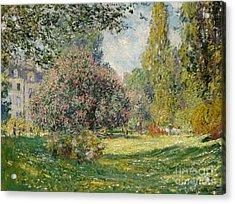 Landscape  The Parc Monceau, 1876  Acrylic Print