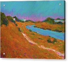 Canal Path, Early Autumn Acrylic Print