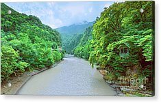 Landscape View From A Bridge Acrylic Print