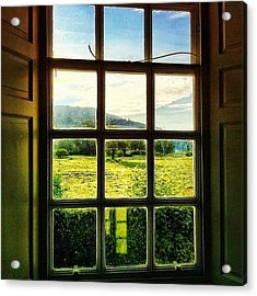 #landscape #window #beautiful #trees Acrylic Print by Samuel Gunnell