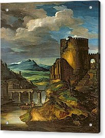 Landscape With A Tomb  Acrylic Print by Theodore Gericault