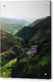 Landscape With Aspect Towards The North Wales Coast. Acrylic Print by Harry Robertson