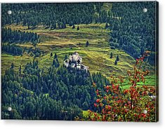 Acrylic Print featuring the photograph Landscape With Castle by Hanny Heim
