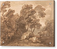 Landscape With Cows Acrylic Print by Thomas Gainsborough