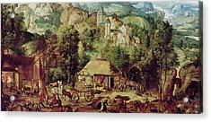 Landscape With Forge  Acrylic Print by Herri met de Bles