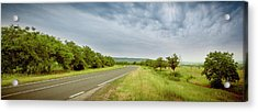 Landscape With Highway And Cloudy Sky Acrylic Print