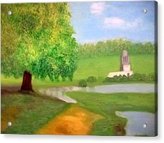 Landscape With Luxuriant Tree And Folly Acrylic Print